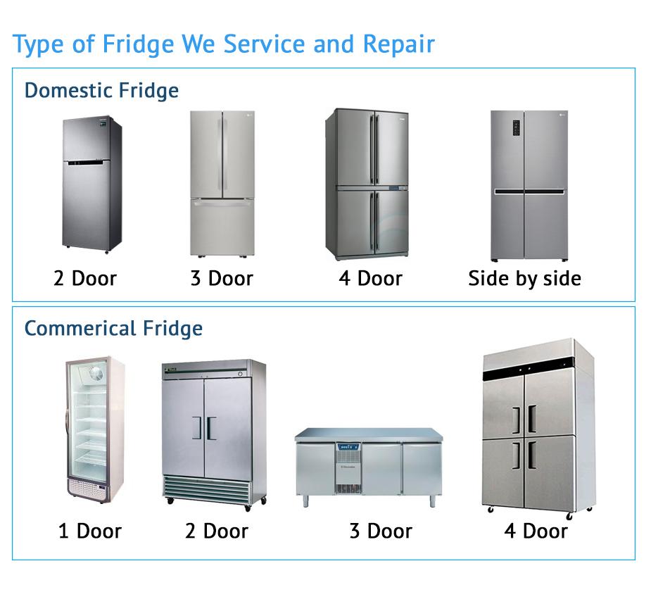 type of fridge we service and repair